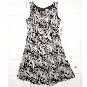 Robbie Bee White & Brown Floral Sundress, size 14
